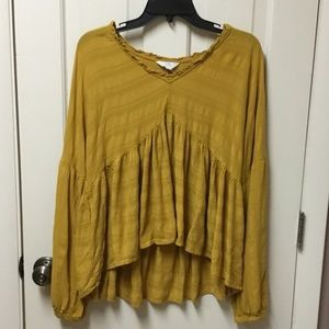 3 for $15💥 Mustard Yellow Large (12-14) Blouse